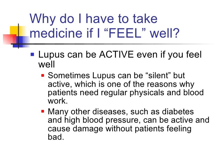 Medication Compliance in Young People with Lupus