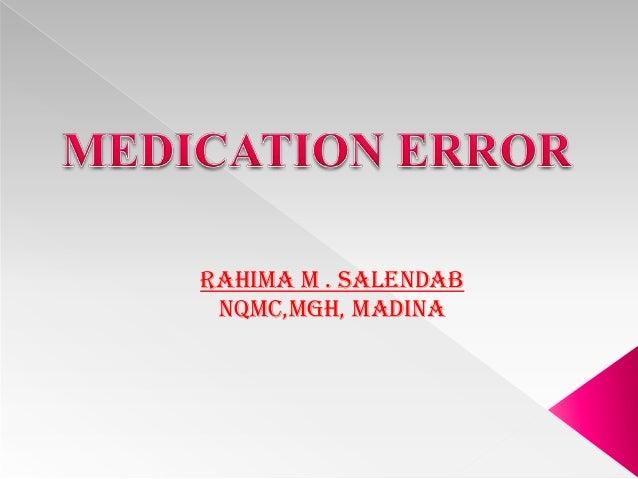 RAHIMA M . SALENDAB NQMC,MGH, MADINA