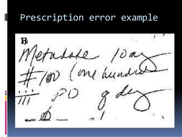 7 Prescription Error