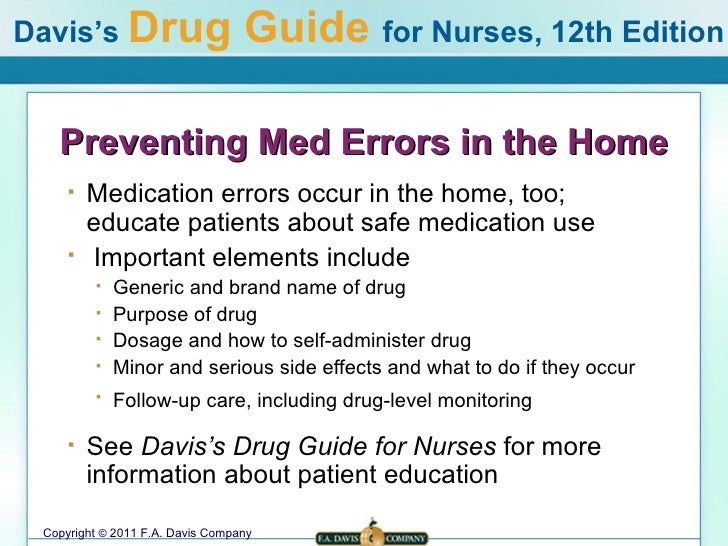 preventing medication errors in nursing Many organizations and researchers have recommended specific interventions for preventing medication errors (see box d-1) this appendix reviews the empirical evidence in support of these interventions in three care settings (hospital, nursing home, and community care), in pediatric and psychiatric.
