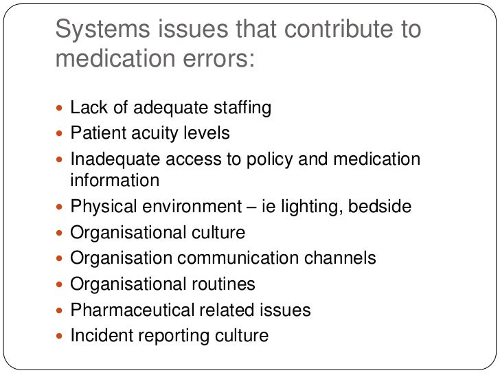 medication errors 2 essay Medication errors can arise due to prescription or ordering errors which entail the improper medication that originate from the written medication order it could also arise due to transcription or verification errors where a physician order or transmission of the physician order to the pharmacy is faulty.