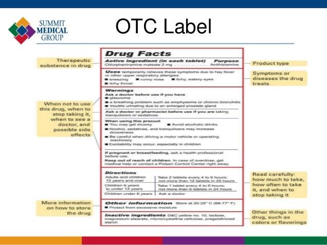 Otc Label 12 Otc Label