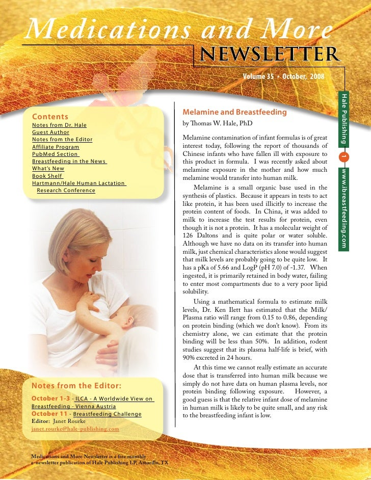 Medications And More  Newsletter Volume 35, October 2008