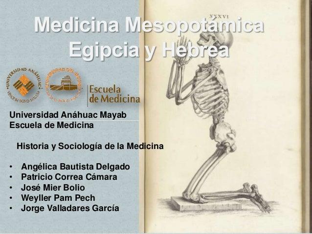 Universidad Anáhuac MayabEscuela de Medicina    Historia y Sociología de la Medicina•    Angélica Bautista Delgado•    Pat...