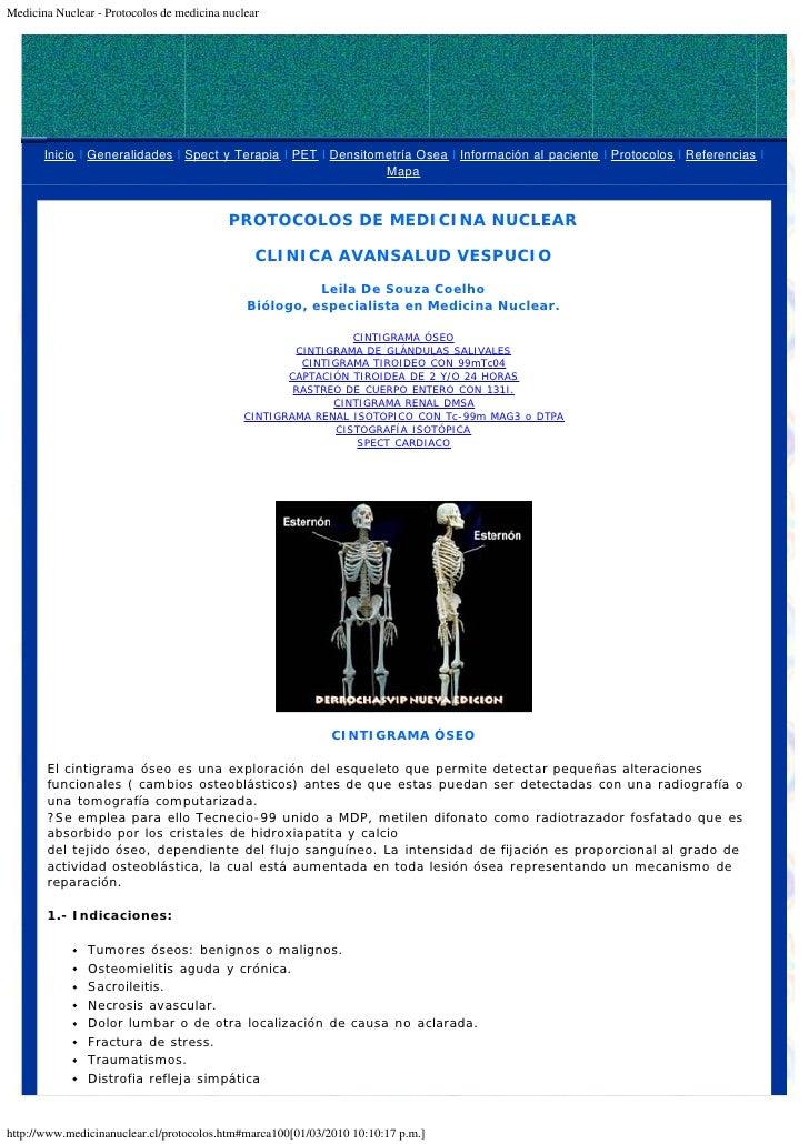 Protocolos de Medicina Nuclear