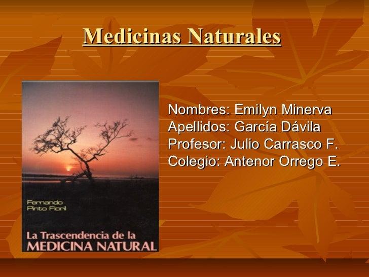 Medicinas naturales