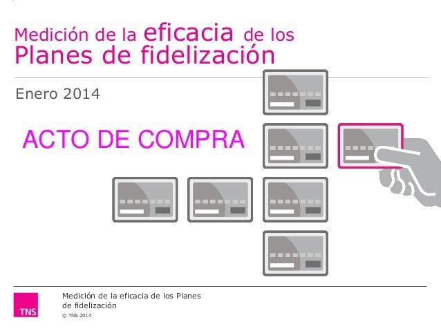 eficacia de los Planes de fidelización Medición de la Enero 2014  ACTO DE COMPRA  Medición de la eficacia de los Planes de...