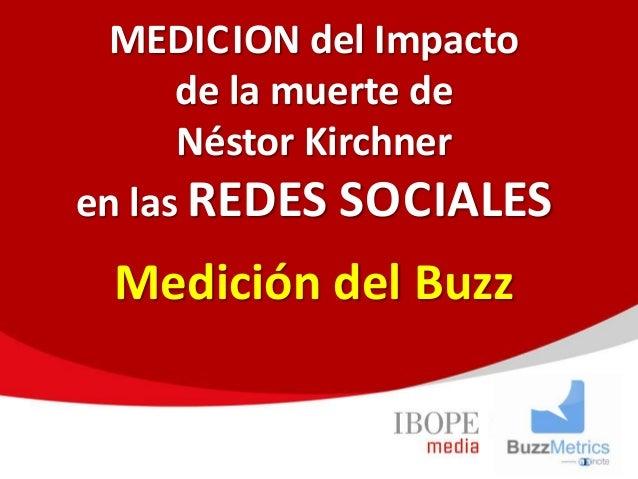 MEDICION del Impacto de la muerte de Néstor Kirchner en las REDES SOCIALES Medición del Buzz