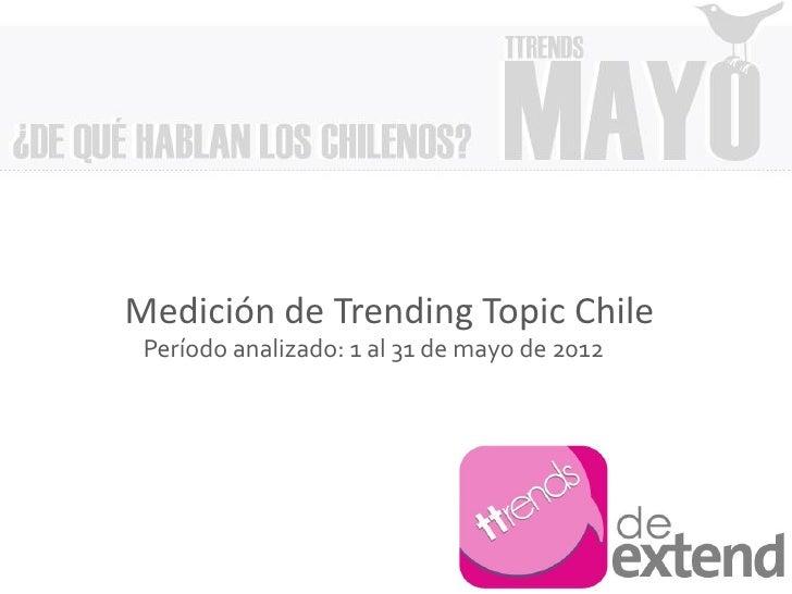 Medición de Trending Topic Chile Período analizado: 1 al 31 de mayo de 2012