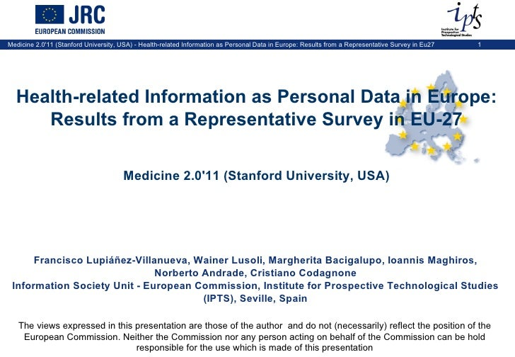 Health-related Information as Personal Data in Europe: Results from a Representative Survey in Eu27