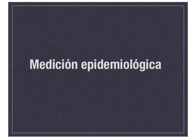 Medición epidemiológica