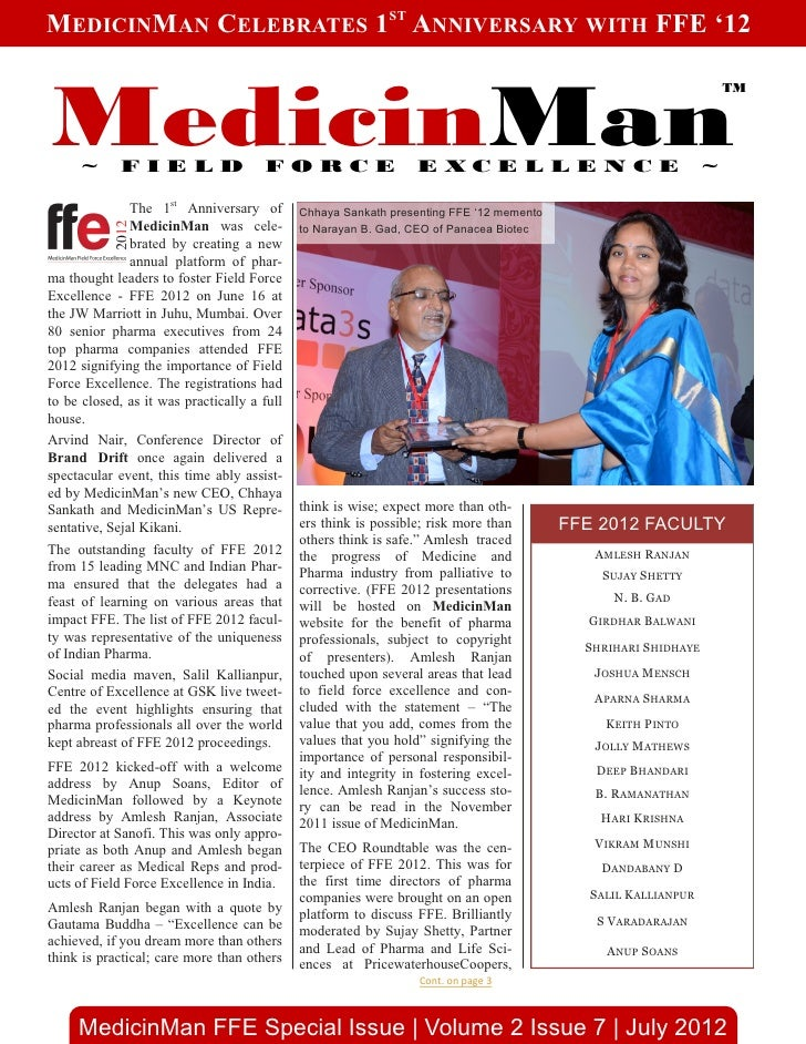 MedicinMan 1st Anniversary Special July 2012 Issue