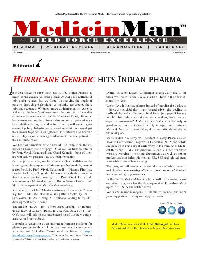 A BroadSpektrum Healthcare Business Media's Corporate Social Responsibility InitiativeMedicinMan        ~         FIELD   ...
