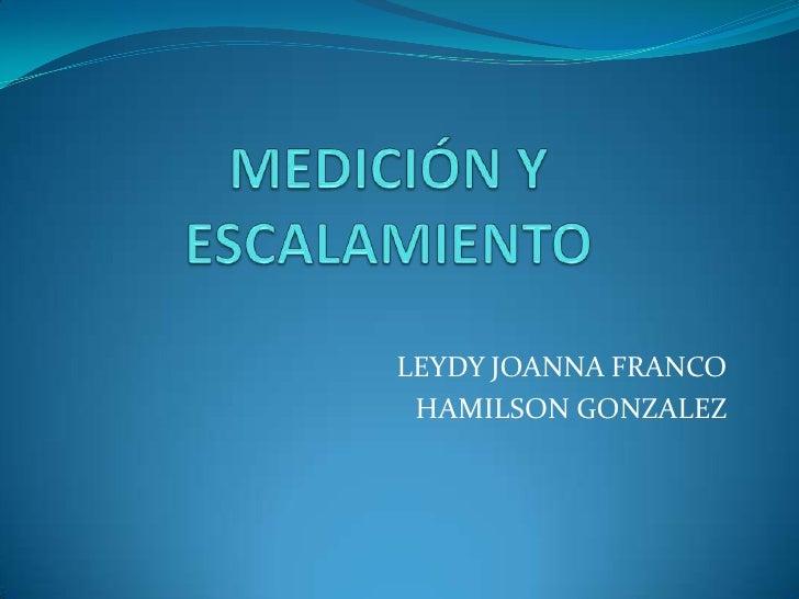 LEYDY JOANNA FRANCO HAMILSON GONZALEZ