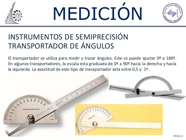 Medicion for Transportador de angulos