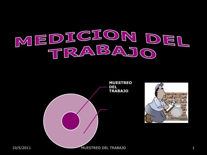 MEDICION DEL TRABAJO<br />28-Sep-11<br />1<br />MUESTREO DEL TRABAJO<br />