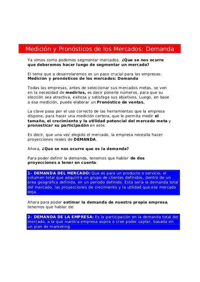 Medicion y pronosticos