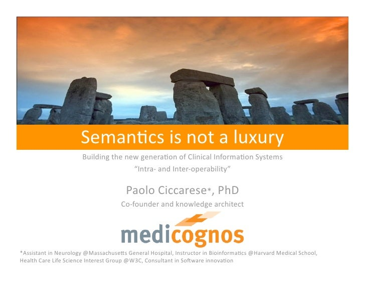 Semantics is not a luxury