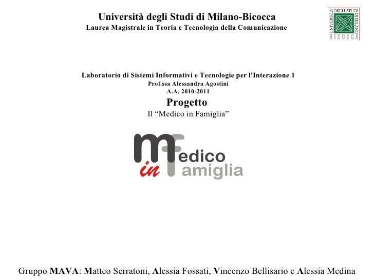 Università degli Studi di Milano-Bicocca                Laurea Magistrale in Teoria e Tecnologia della Comunicazione      ...