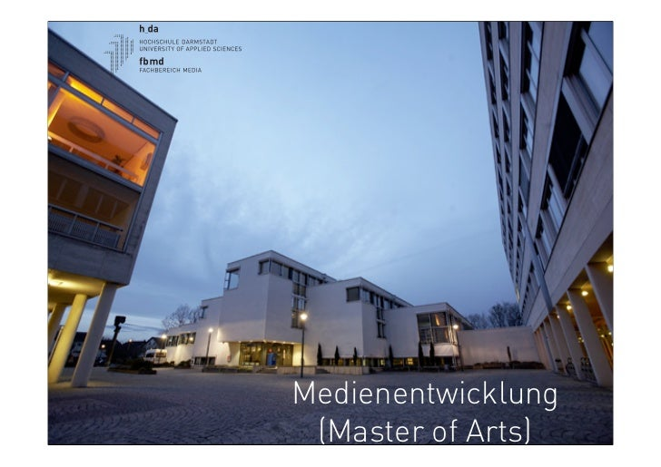 Medienentwicklung (Master of Arts)