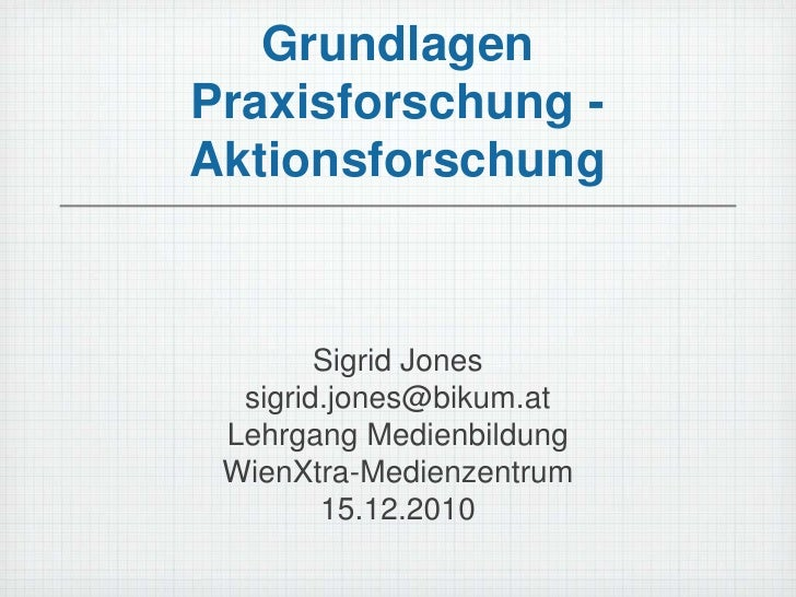 Einführung in die Praxisforschung/ Aktionsforschung