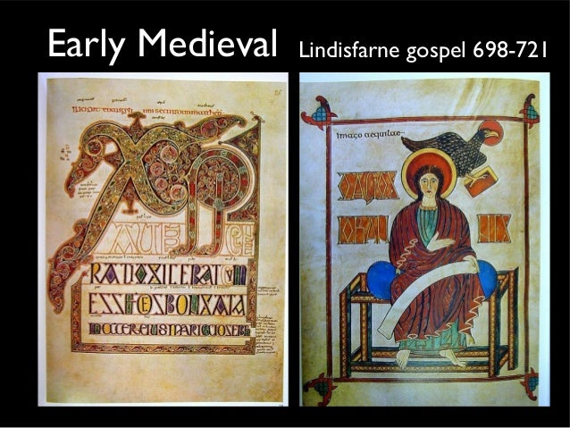 Early Medieval Lindisfarne gospel 698-721