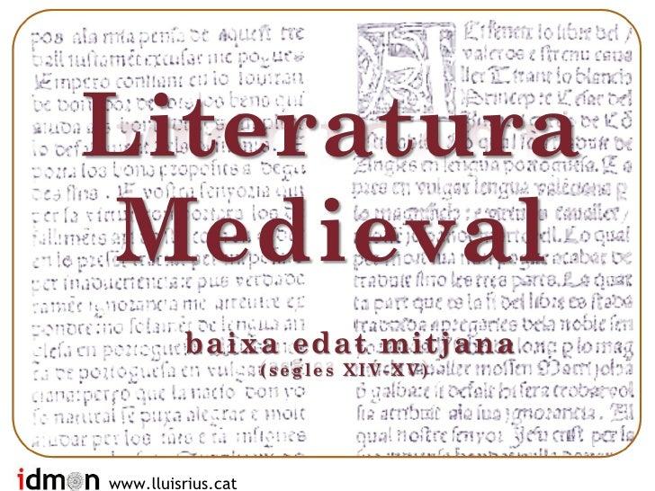 Literatura catalana segles XIV i XV