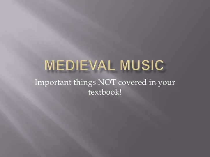 Important things NOT covered in your              textbook!