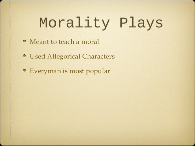 THEATRE AND MORALITY?