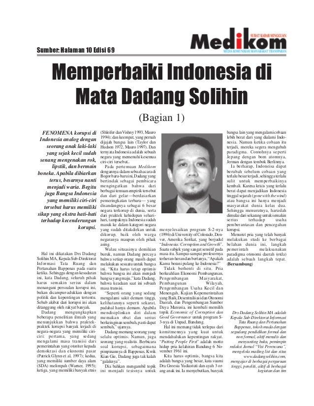 Sumber: Halaman 10 Edisi 69 Memperbaiki Indonesia di Mata Dadang Solihin (Bagian 1) Hal ini dikatakan Drs Dadang SolihinMA...
