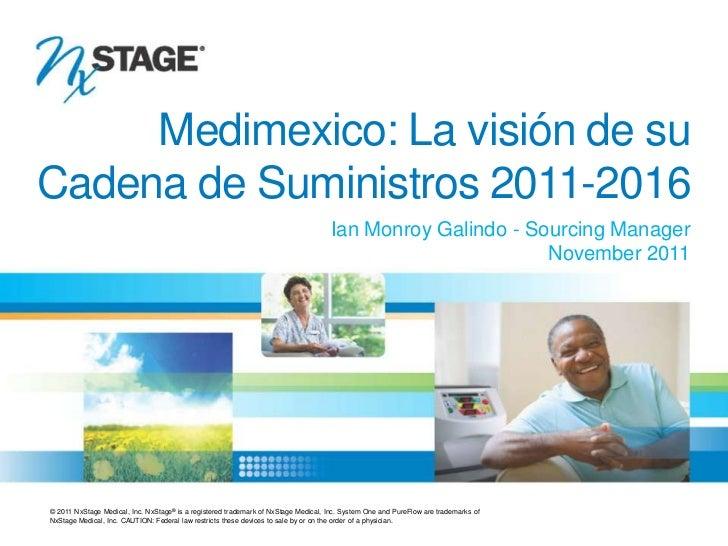 Medimexico: La visión de su   Cadena de Suministros 2011-2016                                                             ...
