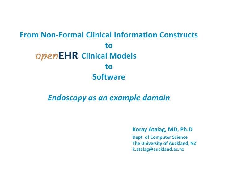 Medinfo 2010 openEHR Clinical Modelling Worshop