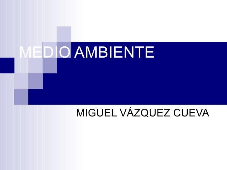 MEDIO AMBIENTE MIGUEL VÁZQUEZ CUEVA