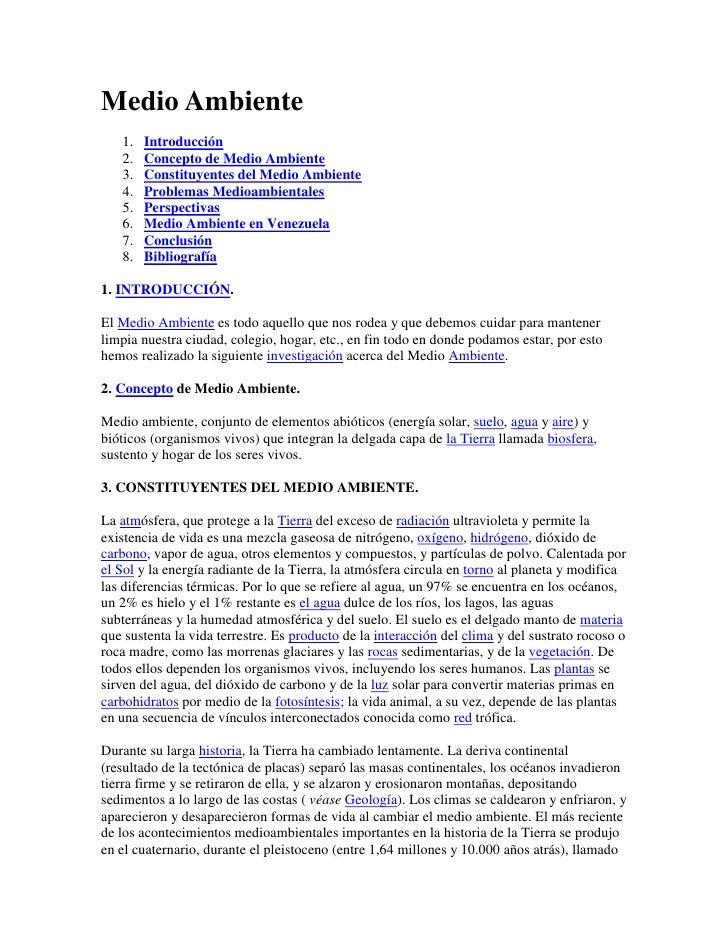 "Medio Ambiente<br /> HYPERLINK "" http://www.monografias.com/trabajos15/medio-ambiente-venezuela/medio-ambiente-venezuela.s..."