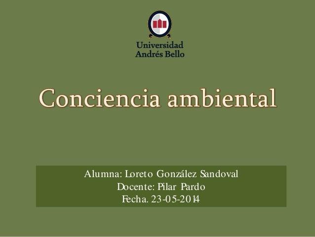 Alumna: Loreto González Sandoval Docente: Pilar Pardo Fecha. 23-05-2014