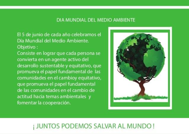 Celebremos el 5 de junio dia mundial del medio ambiente Noticias del dia en el mundo del espectaculo