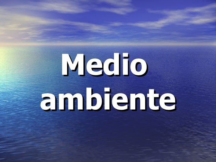 Medio Ambiente (2)