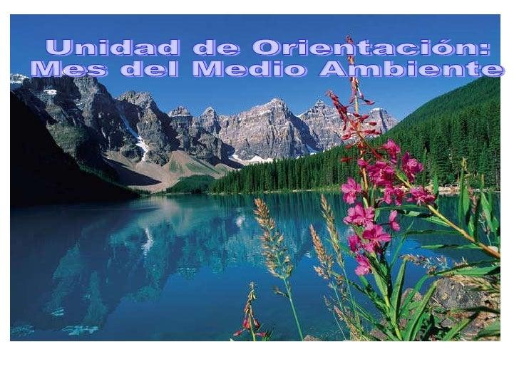 Unidad de Orientación:  Mes del Medio Ambiente