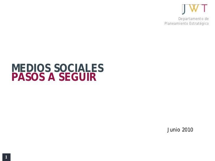 Medios Sociales: Pasos A Seguir (Español)