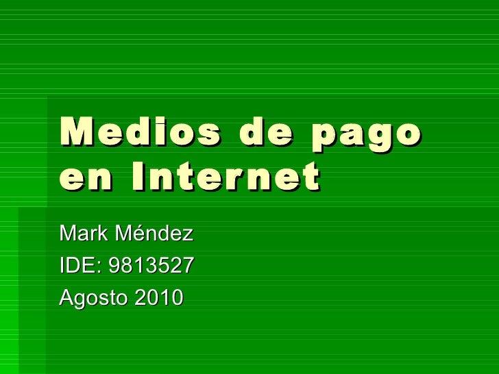 Medios de pago en internet