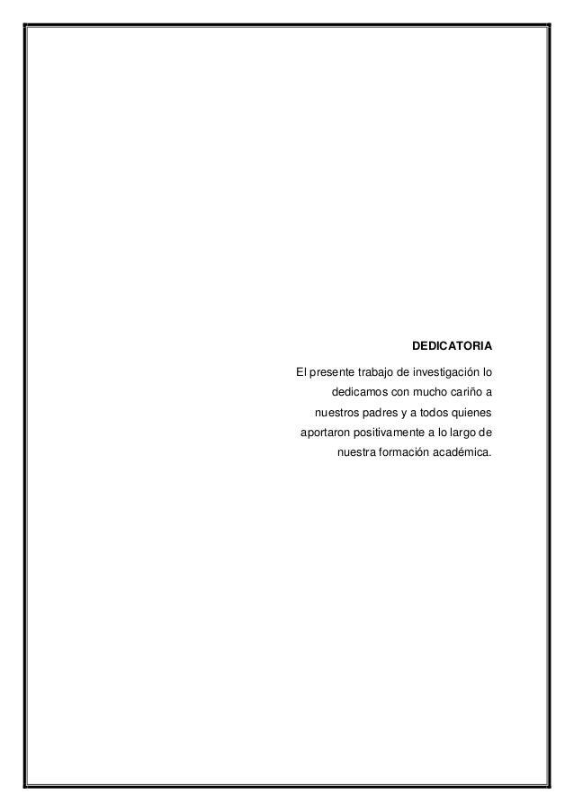 Dedicatoria De Un Trabajo Monografico