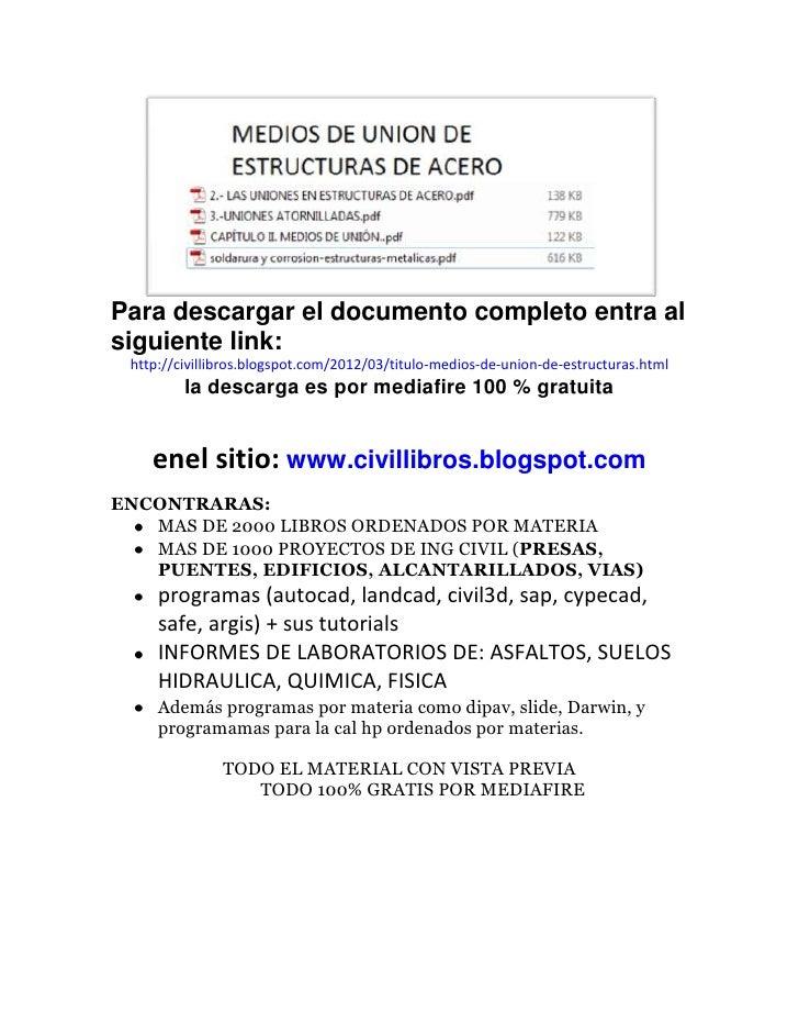 Para descargar el documento completo entra alsiguiente link: http://civillibros.blogspot.com/2012/03/titulo-medios-de-unio...