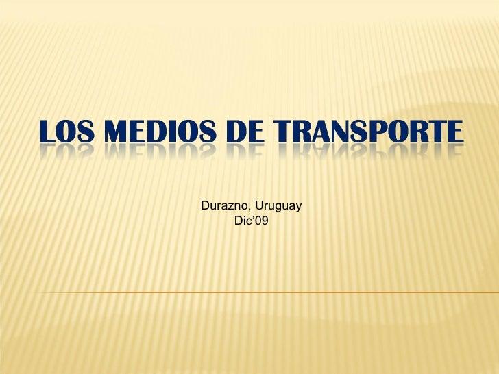 Medios de transportes