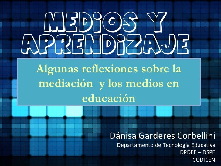 Medios y aprendizaje