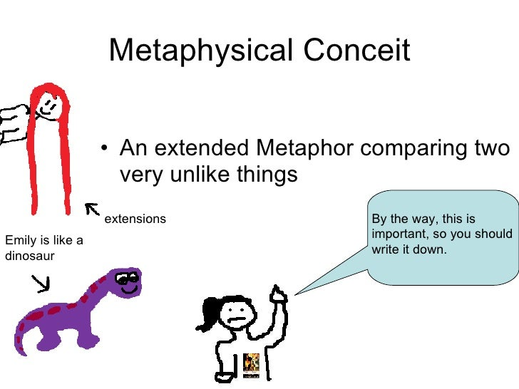 the uses of metaphors of colonization in metaphysical poetry Conceit in donne's poetry many of john donne's poems contain metaphysical conceits and intellectual reasoning to unconventional metaphor between objects that appear to be unrelated metaphysical conceit is a highly ingenious kind of conceit widely used by the metaphysical poets.
