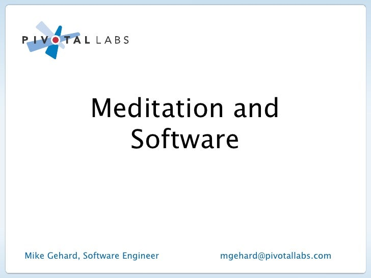 Meditation and Software
