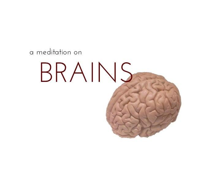 Meditation on Brains