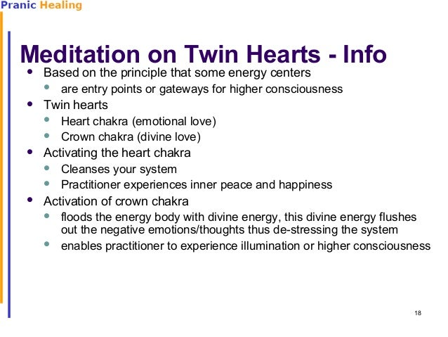Meditation Twin Meditation on Twin Hearts