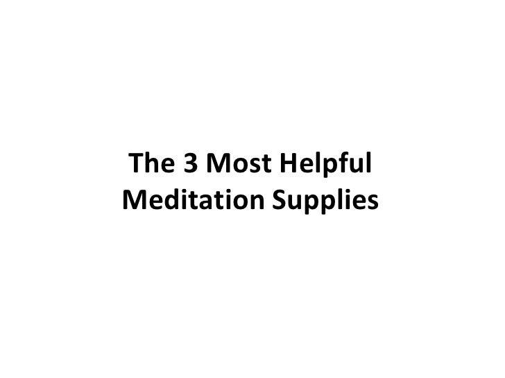 Meditation Supplies