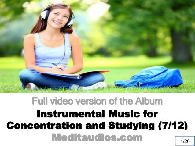 impact of listening to music on concentration Should we follow what research says, or is listening to music while  theory  linking music and cognitive performance is the 'mozart effect', the popular  and  concentration was better in a silent environment, though, studying in.